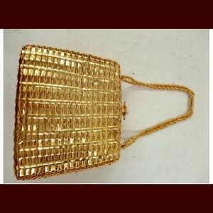 60's-70's Rodo Italy Gold Metal Woven Purse